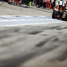 Romain Grosjean fue sancionado tras la clasificación