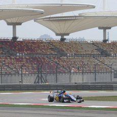 Felipe Nasr probó un nuevo alerón delantero en su monoplaza