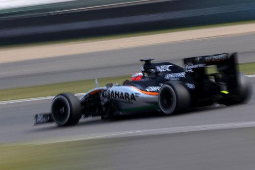Nico Hülkenberg rodando con el Force India en Shanghai