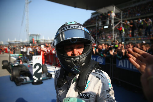 Nico Rosberg acaba por detrás de su compañero