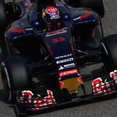 Max Verstappen sufrió con problemas en los frenos en ambas sesiones