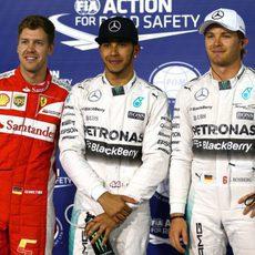 Los tres mejores en la clasificación del GP de Baréin 2015