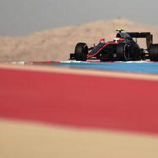 Jenson Button rodando en la FP3
