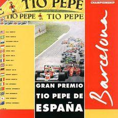 Cartel del Gran Premio de España de 1991