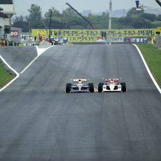 Nigel Mansell y Ayrton Senna