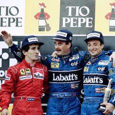 Primer podio de la Fórmula 1 en Montmeló