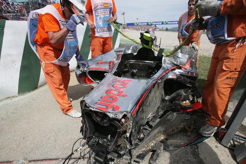2008: el accidente de Kovalainen