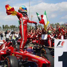 2013: Fernando Alonso gana en casa