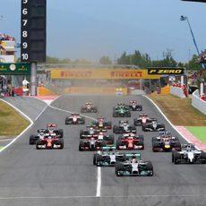 Salida del Gran Premio de España de 2014