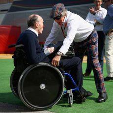 Jackie Stewart y Frank Williams no se perdieron el Gran Premio