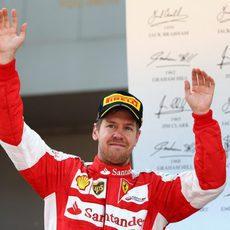 Sebastian Vettel logra el cuarto podio de la temporada