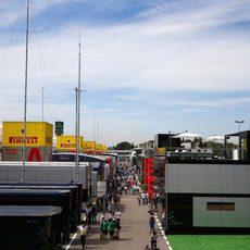 'Paddock' del Gran Premio de España 2015