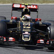 Pastor Maldonado rueda con los 'option'