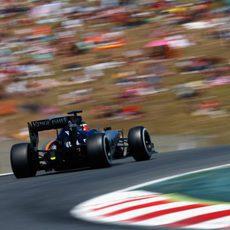 Nico Hülkenberg lidia con las curvas del Circuit de Barcelona Catalunya