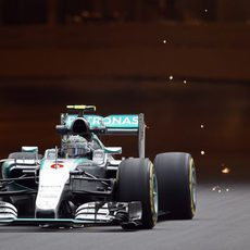 Nico Rosberg a la salida del túnel