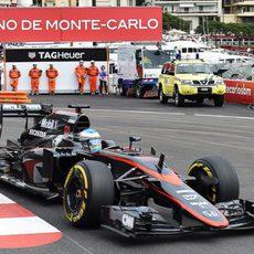 Fernando Alonso en la pista de Monte Carlo