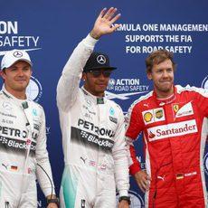 Hamilton, Rosberg y Vettel, los más rápidos en Mónaco