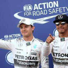 Lewis Hamilton y Nico Rosberg, de nuevo doblete en parrilla