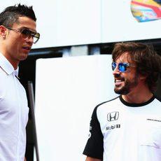 Cristiano Ronaldo y Fernando Alonso coinciden en Mónaco