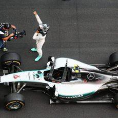 Nico Rosberg disfruta de su tercera victoria en Mónaco