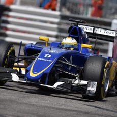 Marcus Ericsson rueda con neumáticos blandos