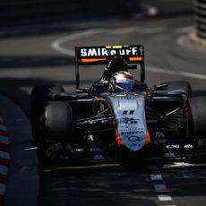 Sergio Pérez termina séptimo en el GP de Mónaco 2015
