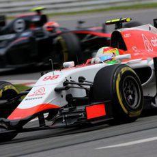 Roberto Merhi mejorando los tiempos de su compañero de equipo