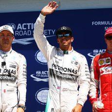 Hamilton, Rosberg y Räikkönen, los más rápidos en Montreal
