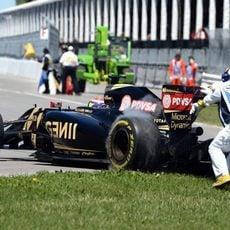 Los comisarios empujan a Pastor Maldonado de vuelta a la pista