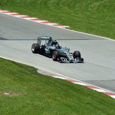 Nico Rosberg perdió ritmo en la Q3 en Montreal