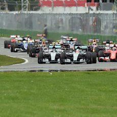 Primeros metros del GP de Canadá 2015