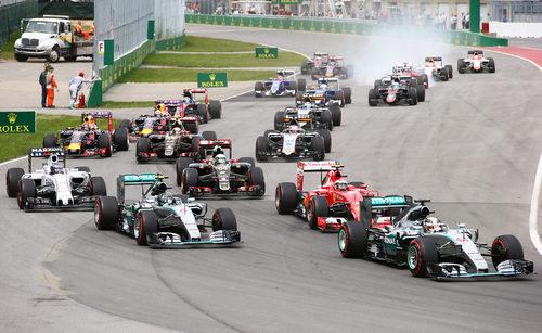 Salida del GP de Canadá 2015