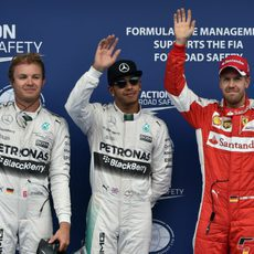 Lewis Hamilton, Nico Rosberg y Sebastian Vettel vuelan en Austria