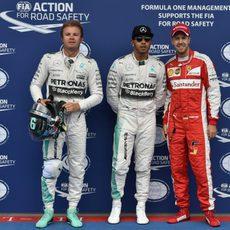 Nico Rosberg, con gesto más serio que sus rivales
