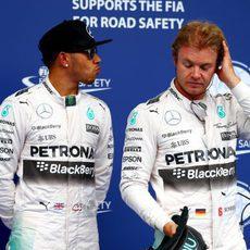 Primera fila en parrilla para Lewis Hamilton y Nico Rosberg
