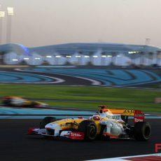 Alonso en su última carrera con Renault