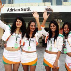 Las chicas de Force India