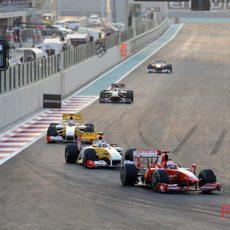 Fisichella en Abu Dhabi