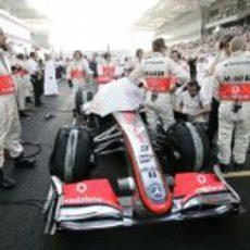 El McLaren de Hamilton