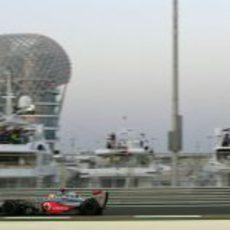Hamilton en el último Gran Premio