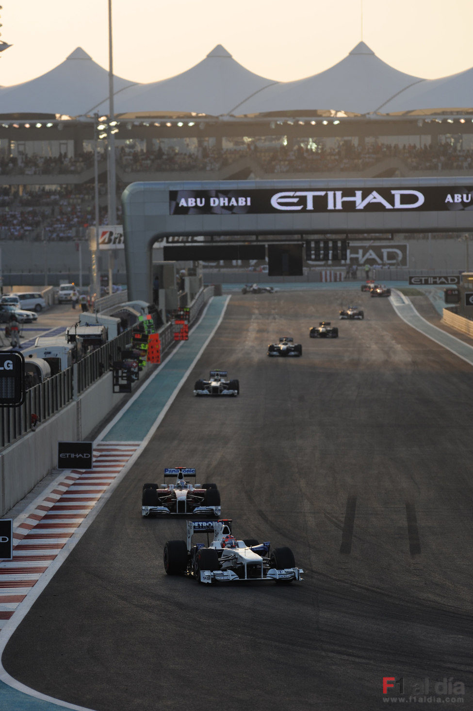 Kubica en Abu Dhabi