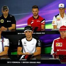 Rueda de prensa de pilotos de la FIA en Silverstone