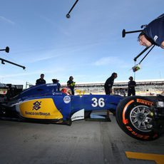 Rafaelle Marciello pilota el Sauber C34 durante los L1