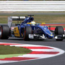 Marcus Ericsson pilotando durante los L2