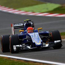 Felipe Nasr durante la clasificación de Inglaterra