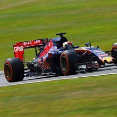 Verstappen durante el GP de la Gran Bretaña