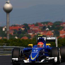 Felipe Nasr en el Hungaroring