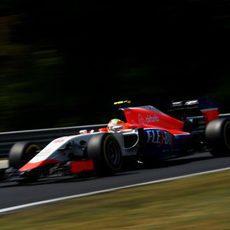 Roberto Merhi vuela con neumáticos blandos