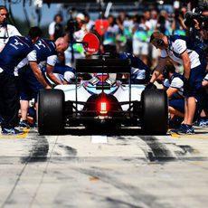 Mucho trabajo para Williams antes de la carrera