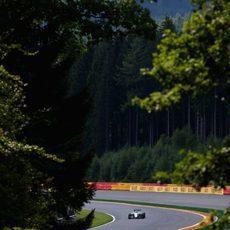 Trabajo aerodinámico para Williams en los entrenamientos